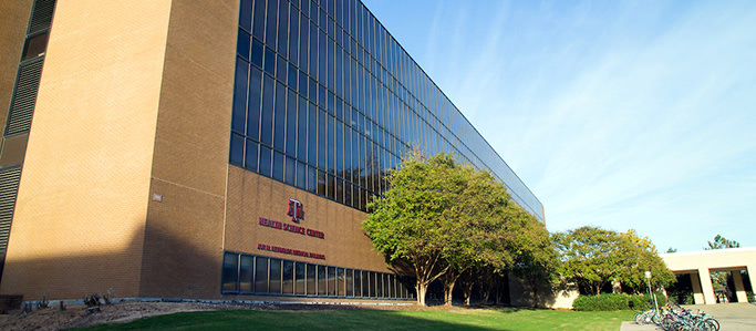 Reynolds Medical Sciences building on the College Station campus