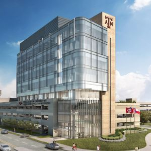 Artist's rendering of the new dentistry clinical building